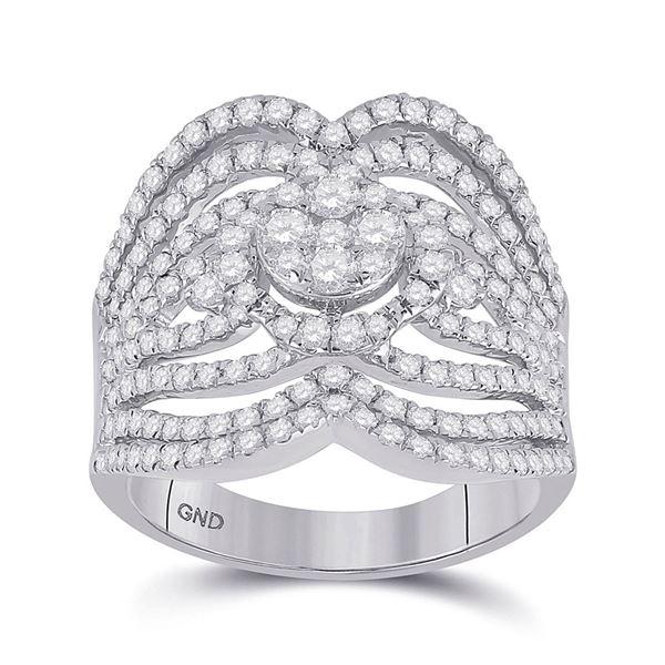 Round Diamond Fashion Ring 1-3/4 Cttw 14KT White Gold