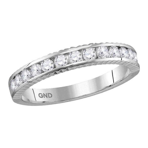 Round Diamond Wedding Anniversary Band 1/2 Cttw 14KT White Gold