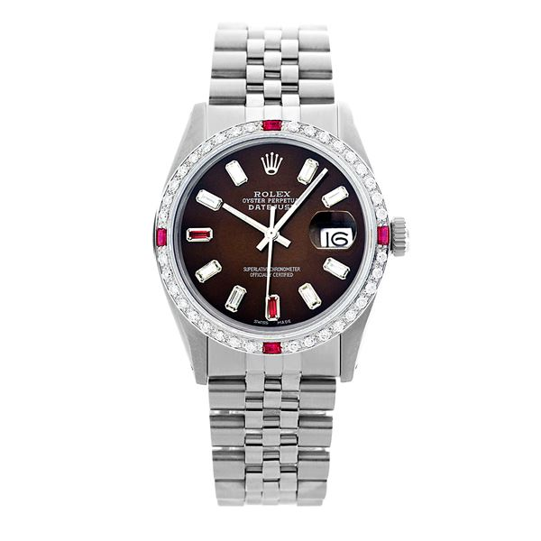 Rolex Pre-owned 36mm Mens Brown Dial Stainless Steel