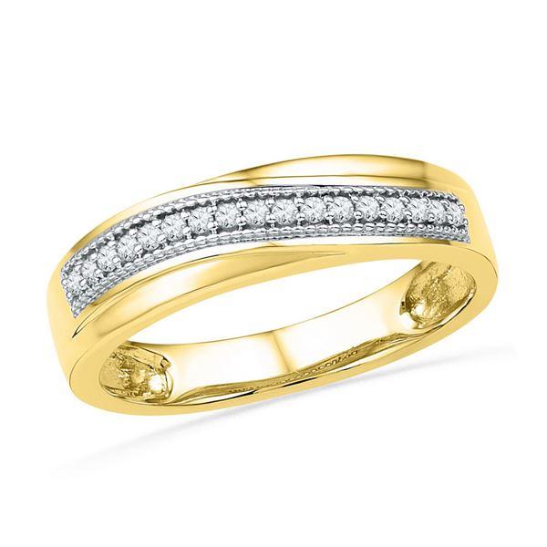 Round Diamond Wedding Anniversary Band 1/6 Cttw 10KT Yellow Gold