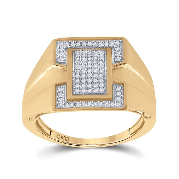 Round Diamond Cluster Ring 1/4 Cttw 10KT Yellow Gold