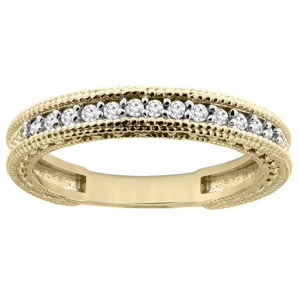 0.16 CTW Diamond Ring 14K Yellow Gold - REF-45K4W