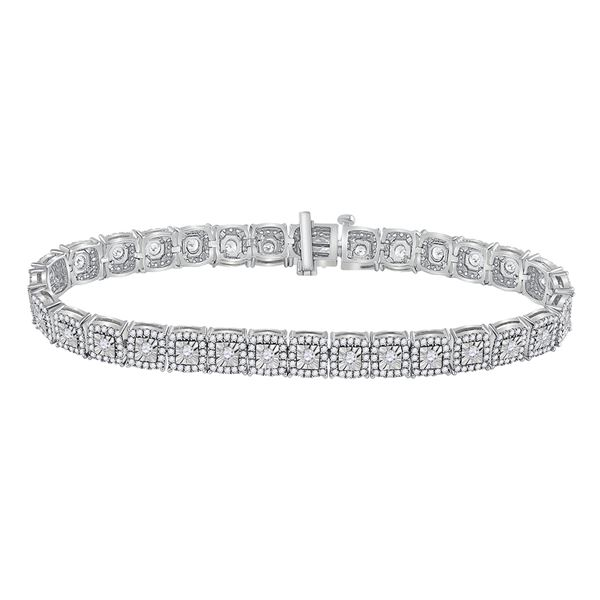 Round Diamond Tennis Bracelet 3 Cttw 10KT White Gold