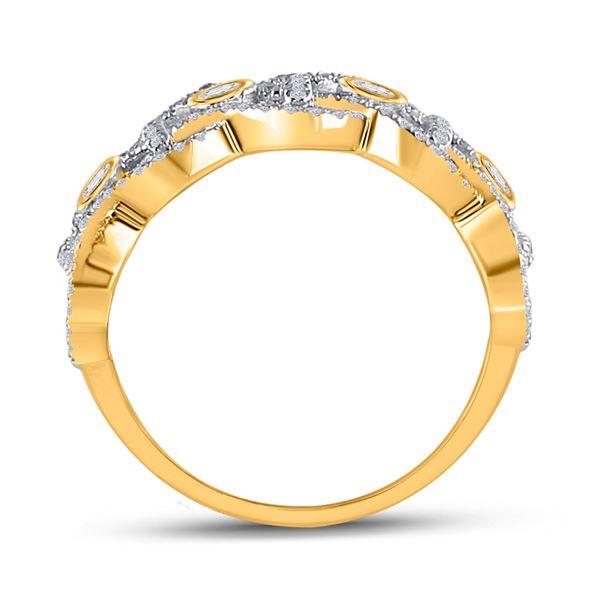 Round Diamond Woven Fashion Ring 5/8 Cttw 14KT Yellow Gold