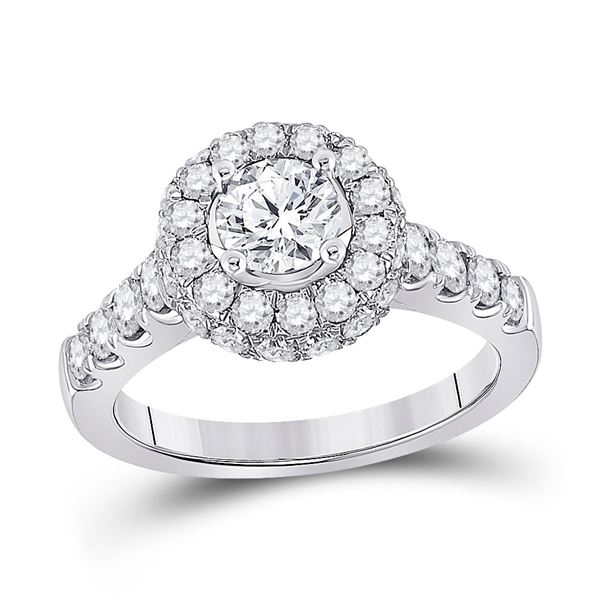 Diamond Solitaire Bridal Wedding Engagement Ring 2-1/5 Cttw 14KT White Gold