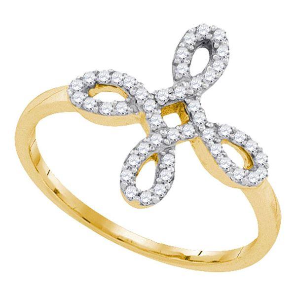 Round Diamond Fashion Ring 1/6 Cttw 10KT Yellow Gold