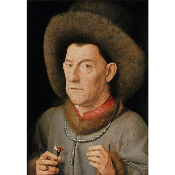 Jan Van Eyck - Man with Pinks