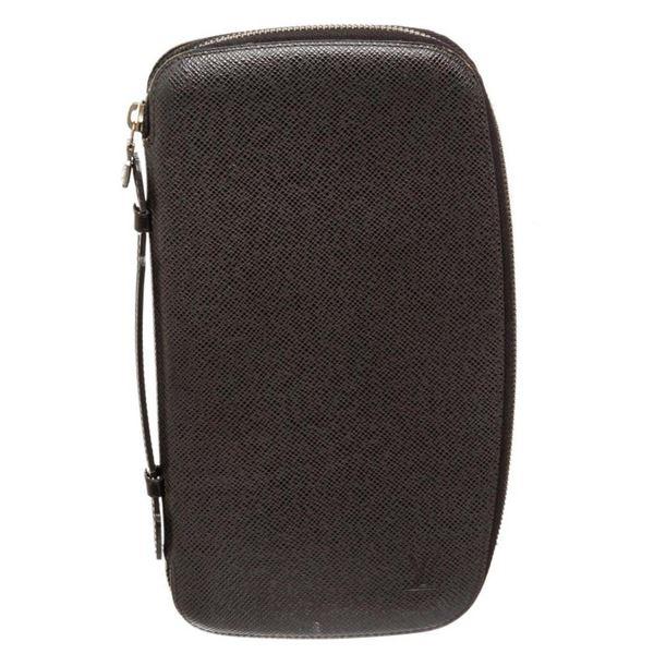 Louis Vuitton Black Taiga Leather Atoll Organizer