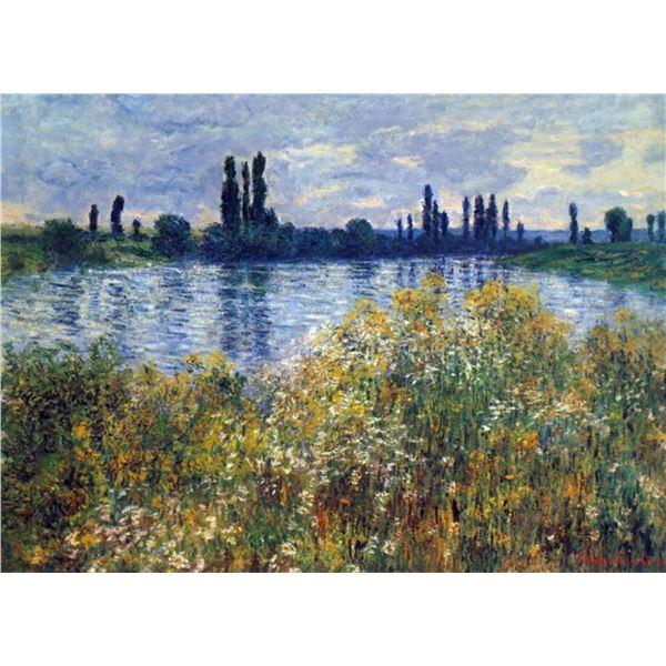 Claude Monet - Seine Shores at Vetheuil
