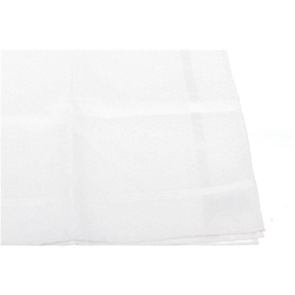 Hermes White Cotton H Logo Striped Pocket Square
