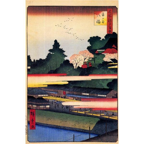 Hiroshige - Ichigaya Hachiman Shrine