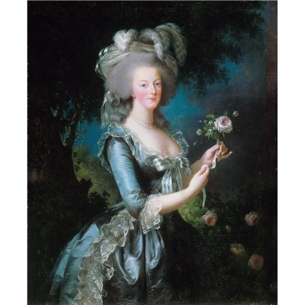 Louise Elisabeth Vigee-Lebrun - Marie-Antoinette with the Rose