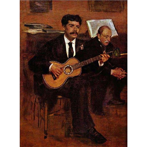 Edgar Degas - The Guitarist Pagans And Monsieur Degas