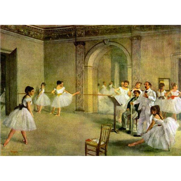 Edgar Degas - Hall Of The Opera Ballet In The Rue Peletier