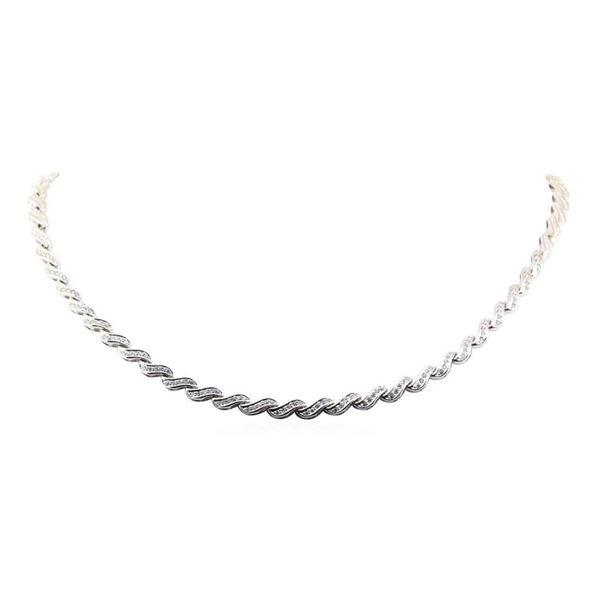 1.50 ctw Diamond Necklace - 14KT White Gold