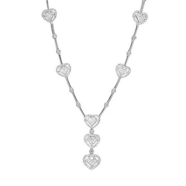 18k Gold 5.28CTW Diamond Necklace, (SI1/H-I)