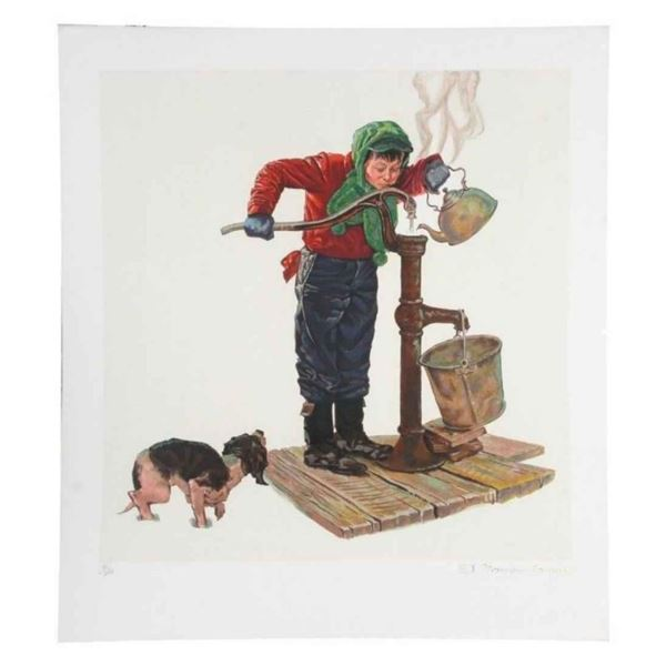 """Norman Rockwell """"WINTER MORNING (Encore Edition)"""""""