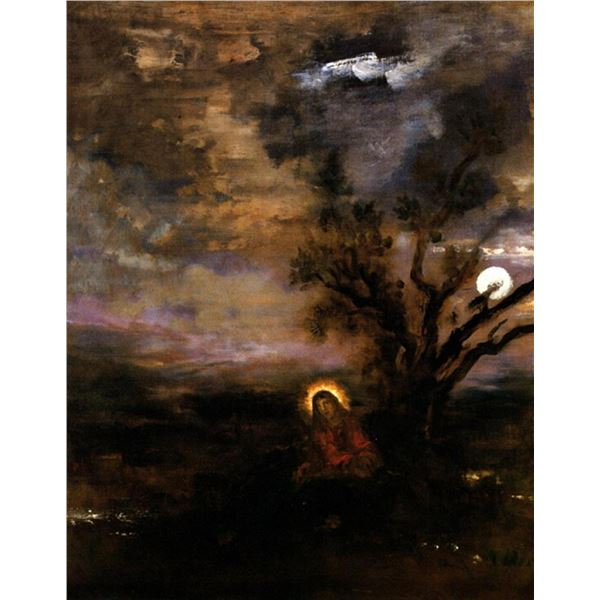 Gustave Moreau- Christ in the garden of Olives