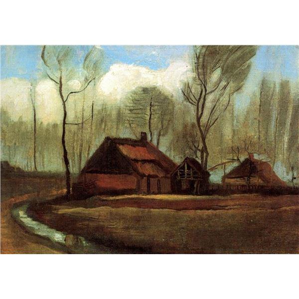 Van Gogh - Farmhouses Among Trees
