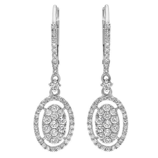 14k Gold 0.75CTW Diamond Earrings, (SI2-SI3/H-I)