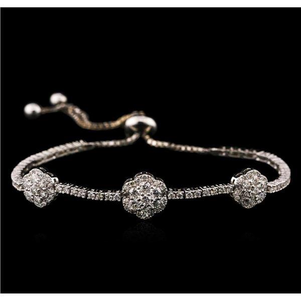 14KT White Gold 2.02 ctw Diamond Bracelet