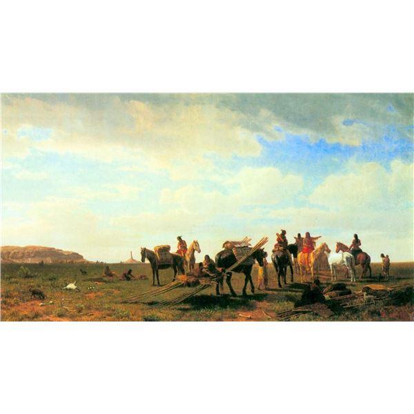 Indians Near Fort Laramie by Albert Bierstadt
