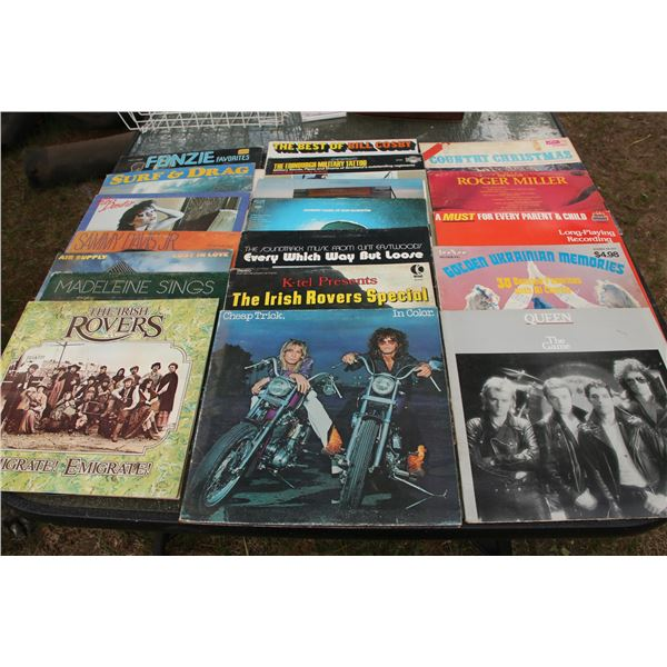 basket of records