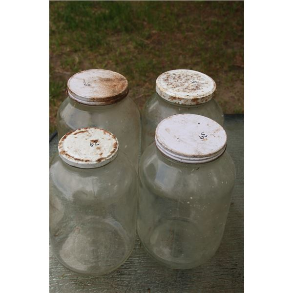 4- I gallon jars