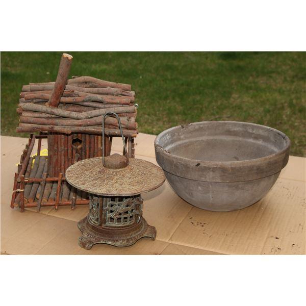 bird house/ bowl /candle holder