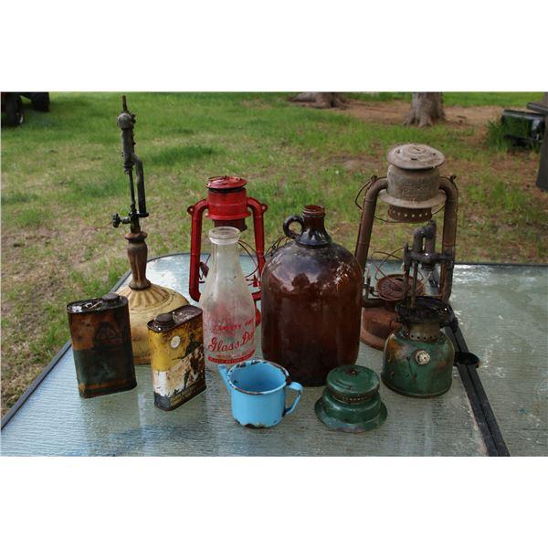 antique jugs/ lanterns