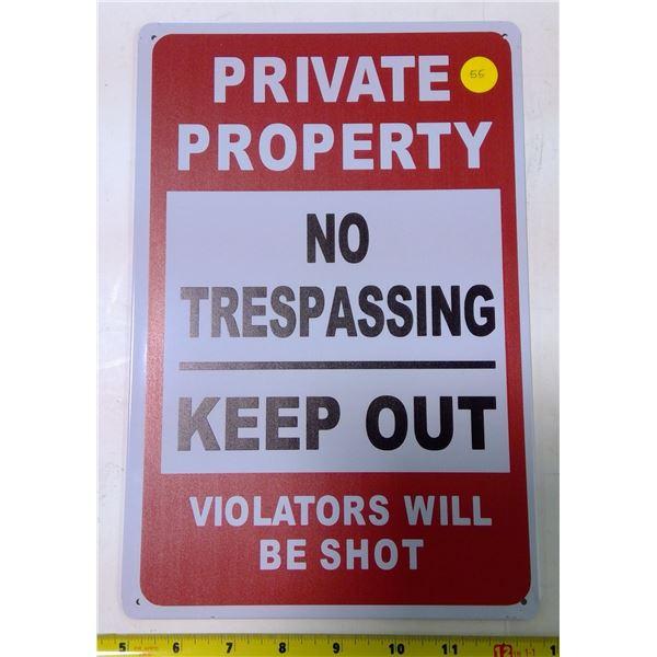 """Reproduction Tin Sign 12x9"""""""