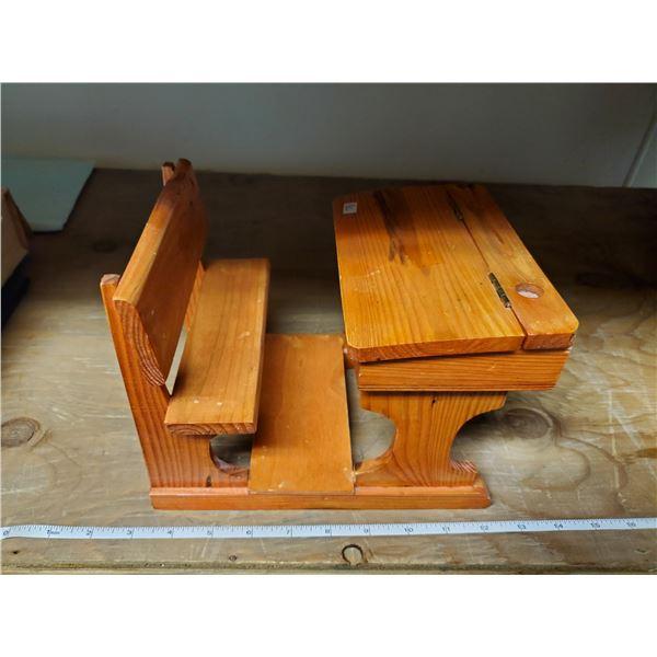 wooden school desk for dolls