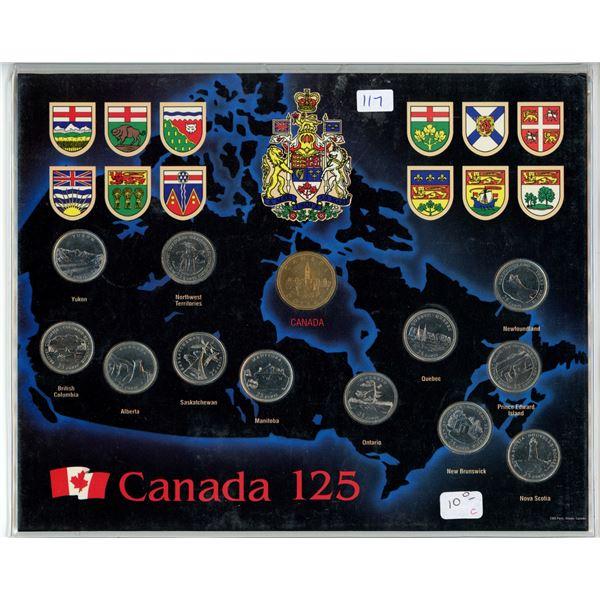 1992 Canadian Coin Set - 13 Piece - Commemorative Provinces