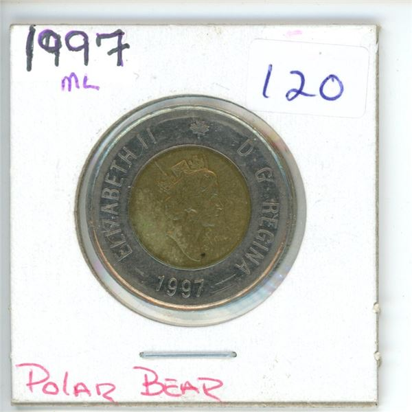 1997 Canadian Toonie $2 Coin