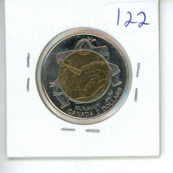 1999 Canadian Toonie $2 Coin - Nunavut
