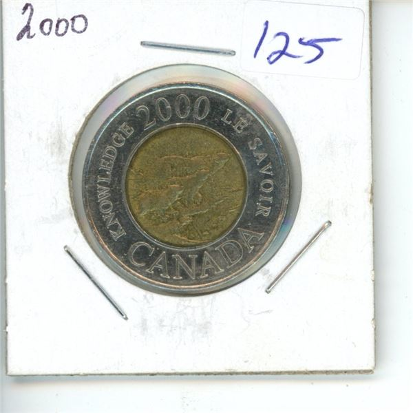 2000 Canadian Toonie $2 Coin - Knowledge