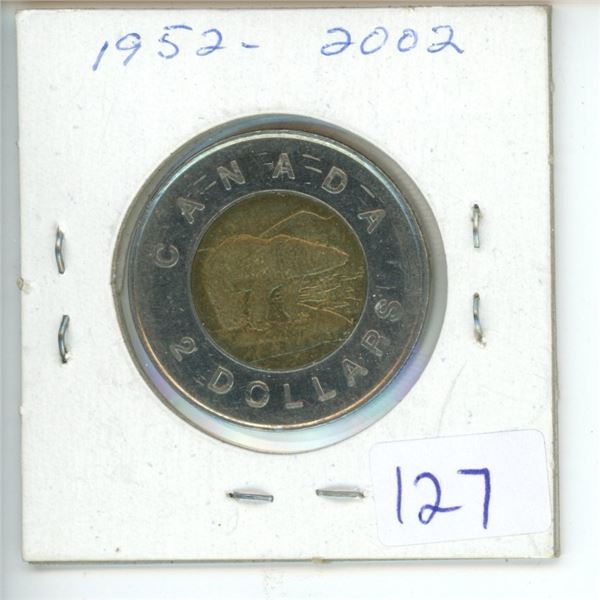 2002 Canadian Toonie $2 Coin
