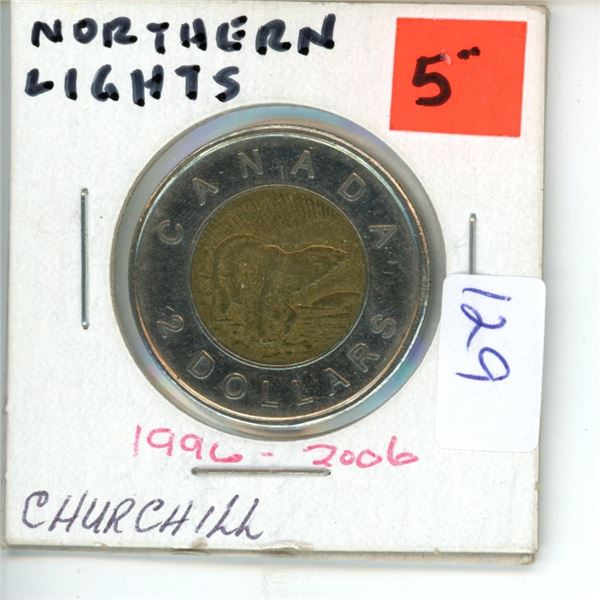 2006 Canadian Toonie $2 Coin - Northern Lights