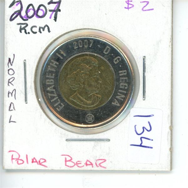 2007 Canadian Toonie $2 Coin