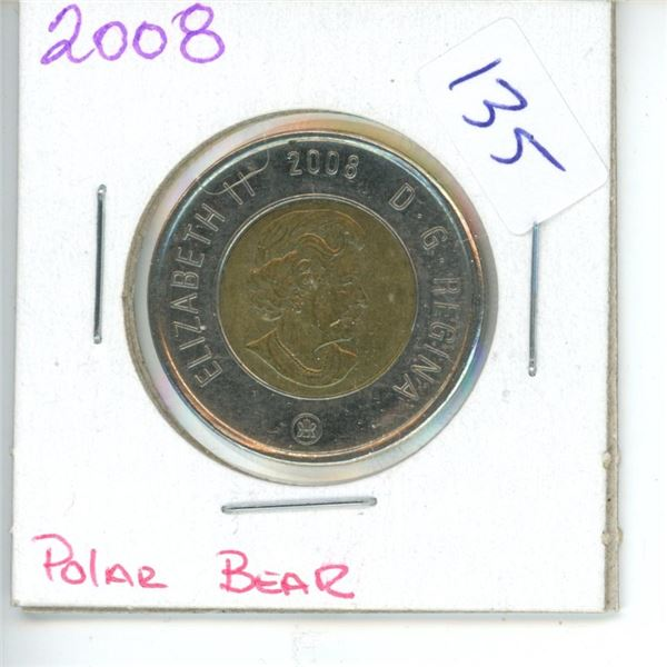 2008 Canadian Toonie $2 Coin