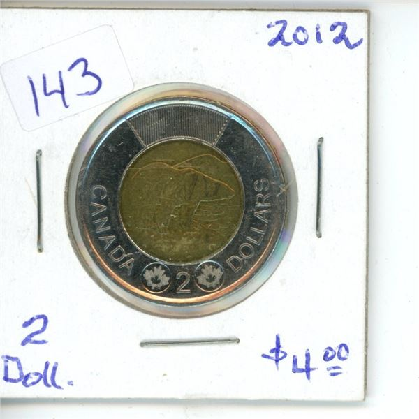 2012 Canadian Toonie $2 Coin