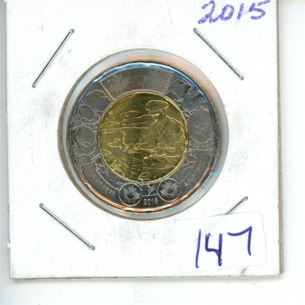 2015 Canadian Toonie $2 Coin - Rememberance - Journal