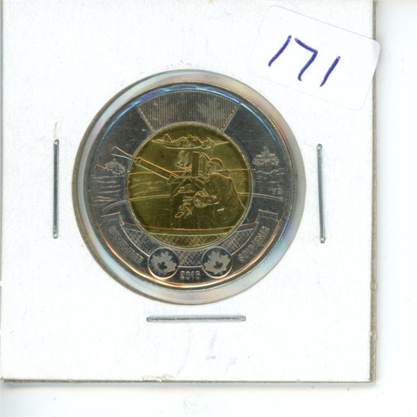 2016 Canadian Toonie $2 Coin - Rememberance - Turret