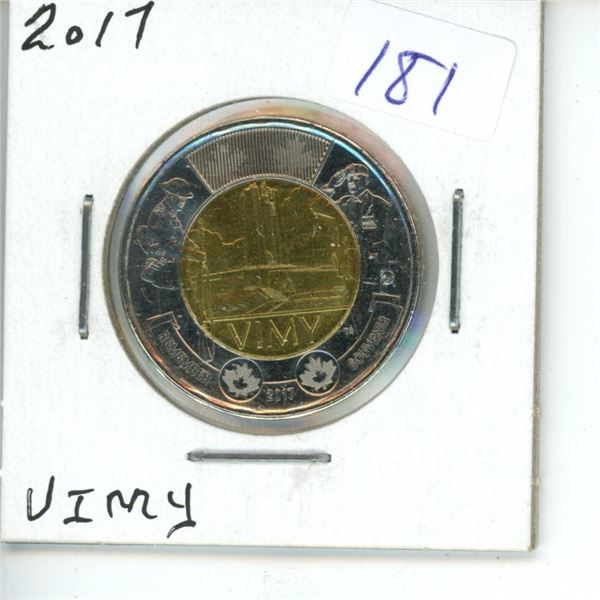 2017 Canadian Toonie $2 Coin - Rememberance - Vimy Ridge