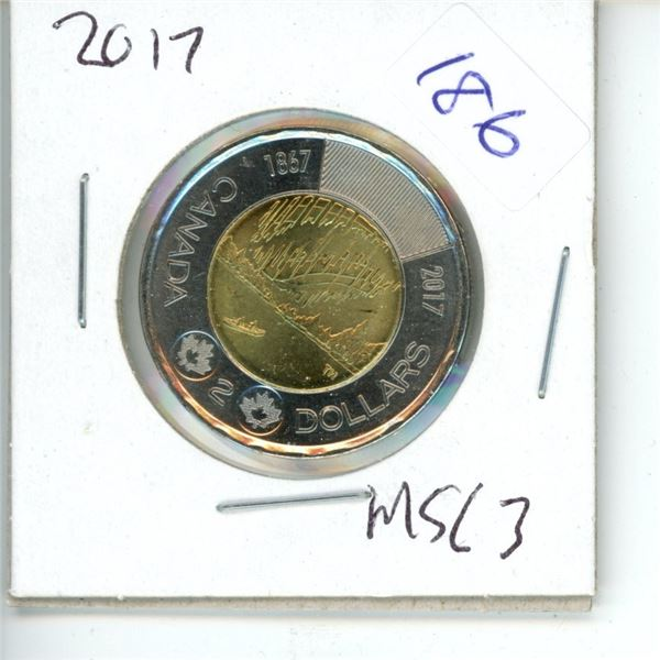 2017 Canadian Toonie $2 Coin - Northern Lights