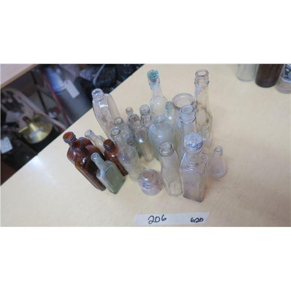 Glass Medicine/Household Bottles X 23