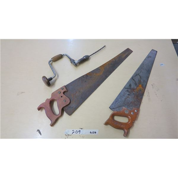 Hand Saw and Drill X2