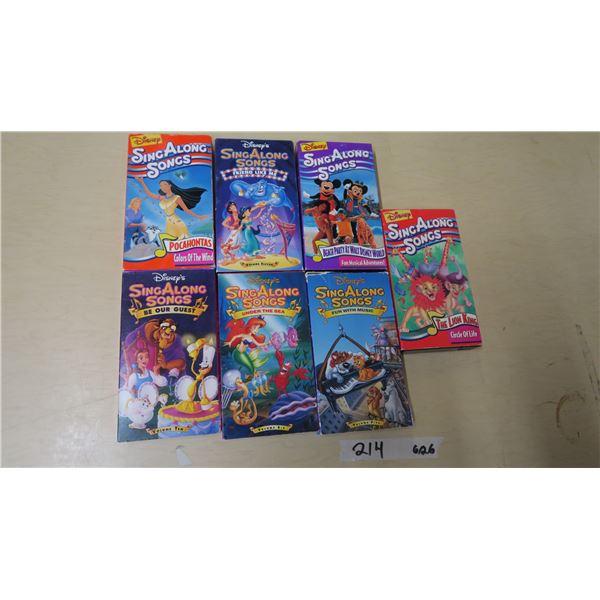 Disney's Sing-A-Long VHS Tapes X 7