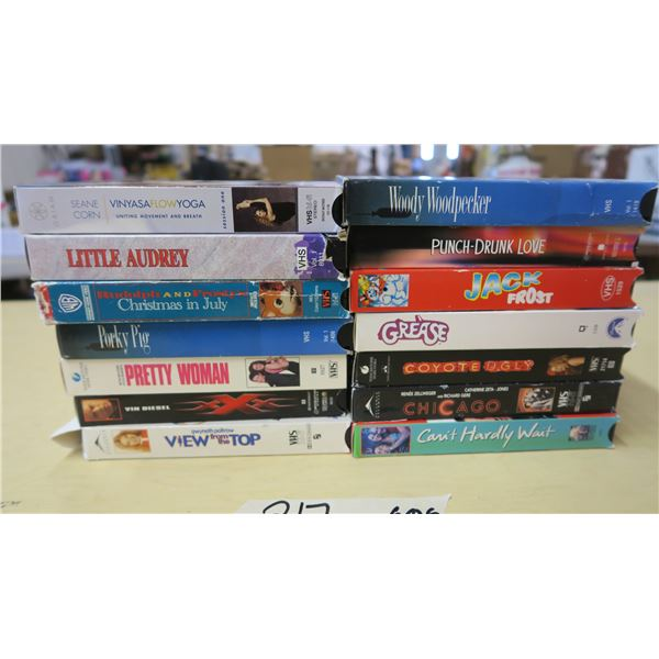 VHS Movies and TV X14