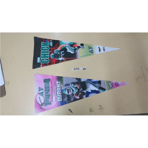 SK Roughriders Pennants X2